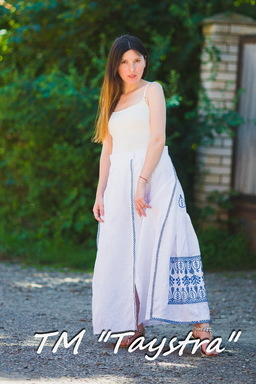 Embroidered skirt, two wedges, boho, ethno style, Bohemian