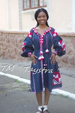 Embroidered Midi Dress Boho, Embroidered Wedges, ethno, Blue Dress style boho chic, Bohemian, Vyshyvanka Dress Multi Color Embroidery Linen, Ukrainian embroidery
