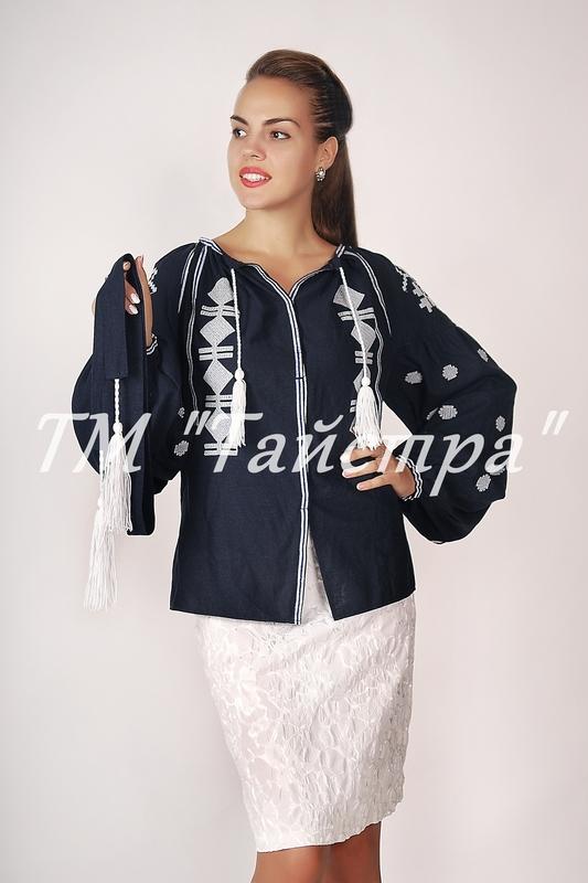 Vyshyvanka Embroidered Blouse, Black Linen, ethno, style boho chic, Bohemian, Vyshyvanka  Multi Color Embroidery Linen, Ukrainian embroidery
