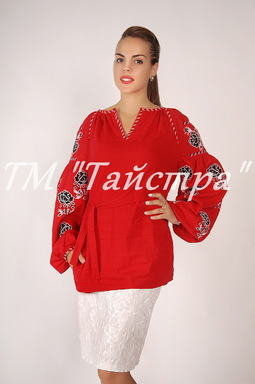 Vyshyvanka Embroidered Blouse Red Linen ethno, style boho chic, Embroidered clothes Bohemian, ethno , Vyshyvanka  Multi Color Embroidery Linen, Ukrainian embroidery