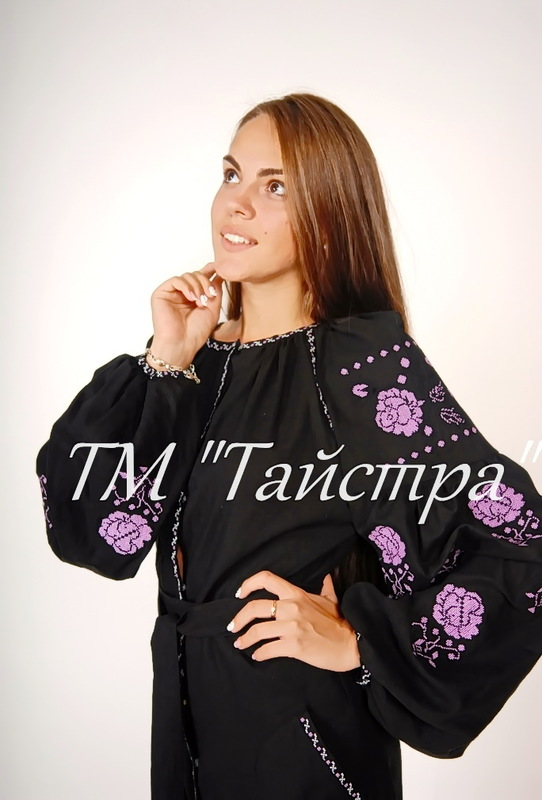 Dress Ukrainian embroidery, Vyshyvanka Boho, ethnostyle boho chic, Embroidered dress, Multi Color Embroidery Linen