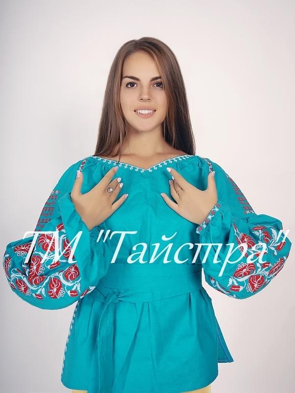 Vyshyvanka Ukrainian Embroidery, Boho, ethno, style boho chic, Embroidered Blouse, Multi Color Embroidery Linen