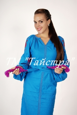 Vyshyvanka dress, Ukrainian embroidery, Boho, ethno, style boho chic, Embroidered dress, Multi Color Embroidery Linen
