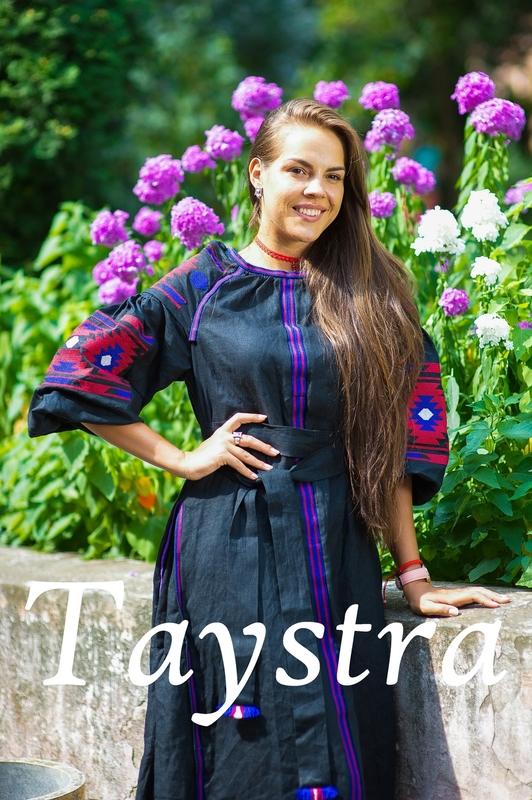 Black Embroidered Linen dress, Bohemian, Vyshyvanka  Ukrainian embroidery, Boho, ethno, style boho chic