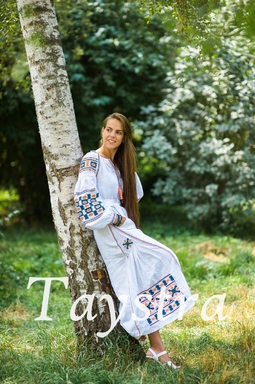 White Embroidered Wedding dress, Bohemian,  Vyshyvanka  Ukrainian embroidery, Boho, ethno, style boho chic