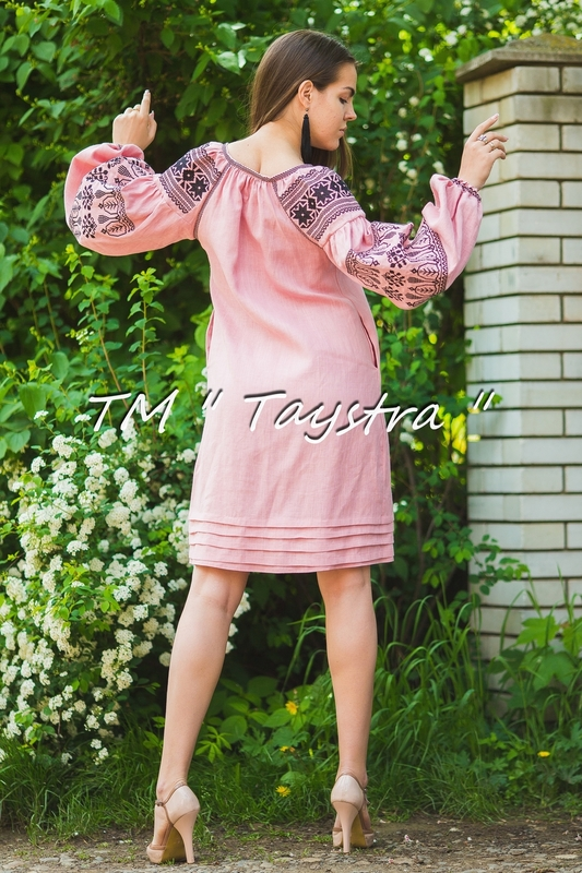 Vyshyvanka Midi Dress  Ukrainian embroidery, Boho, ethno, style boho chic, Embroidered dress, Multi Color Embroidery Linen