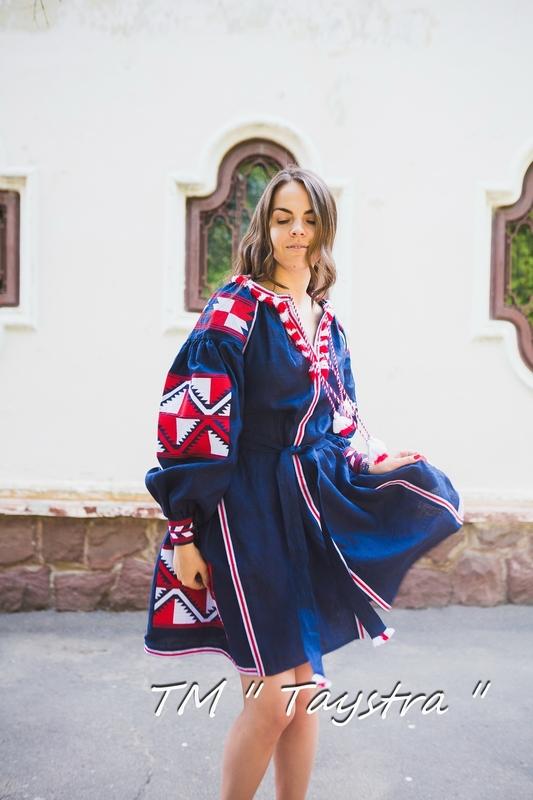 Embroidered dress Boho,2 wedges, ethno, style boho chic, Bohemian, Vyshyvanka Dress Multi Color Embroidery Linen, Ukrainian embroidery