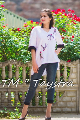 Vyshyvanka Embroidered Blouse Birds Embroidery, White Black Linen, ethno, style boho chic, Bohemian, Vyshyvanka  Multi Color Embroidery Linen, Ukrainian embroidery