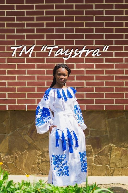 Vyshyvanka White Dress Ukrainian embroidery, Boho, ethno, style boho chic, Embroidered dress, Multi Color Embroidery Linen